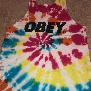 Obey Tie Dye Tank Top Men's
